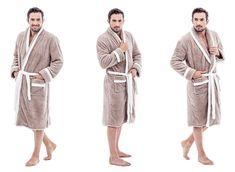 Kvalitné béžovo krémové pánske župany Fashion, Dress, Moda, Fashion Styles, Fashion Illustrations