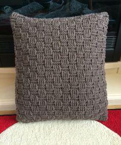 Basketweave cushion cover
