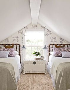 Charming Attic remodel birmingham,Attic master bedroom and Attic bedroom design view. Attic Renovation, Attic Remodel, Attic Bedrooms, Guest Bedrooms, Upstairs Bedroom, Country Bedrooms, Cottage Bedrooms, Attic Bedroom Kids, Bedroom Girls