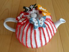 Beautiful tea cosy with four colourful butterflies. Made by Golden Heart Crafts. Golden Heart, Heart Crafts, Cosy, Butterflies, Tea, Christmas Ornaments, Holiday Decor, Handmade, Beautiful