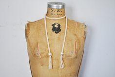 Long Chocker Pearl Necklace / Beaded belt by badbabyvintage on Etsy
