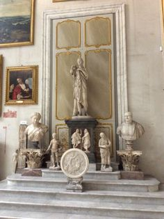 A Titian painting and a gaggle of ancient sculptures. Galleria Doria Pamphili, Rome.