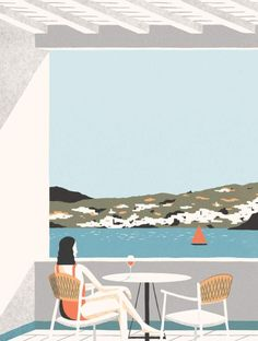 Landed in Mykonos yesterday and ready to illustrate our way around the island. Landscape Illustration, Illustration Art, Vector Illustrations, Greece Wallpaper, Posca Marker, Photo Wall Decor, Nostalgic Art, New York Christmas, Paint By Number