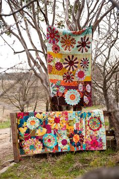 The dresden plate is used to make the flowers of Garden Party, one of the quilts in my book Making Quilts which is now available in the USA ...