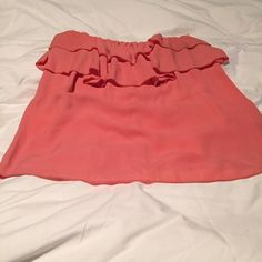 Coral ruffle top Coral ruffle top Tops