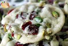 Pistachios Cranberry Cookies Recipe Desserts with softened butter, confectioners sugar, all-purpose flour, vanilla, pistachios, dried cranberries