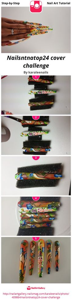 Nailsntnatop24 cover challenge - Nail Art Gallery Step-by-Step Tutorial Photos