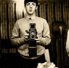 Paul McCartney Rolleiflex self portrait by donsnyc, via Flickr.. this is so perfect