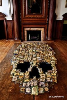 Skull made with 375 slices of real human brains at Philadelphia's Mütter Museum