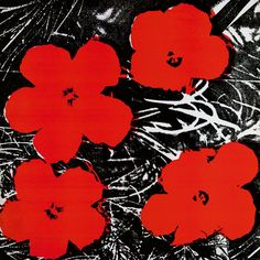 Andy Warhol-Flowers (Red), 1964