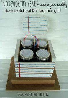 Mason Jar Caddy | 37 Awesome DIYs To Make Before School Starts
