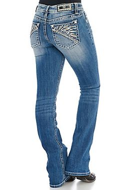 Miss Me Women's Dark Wash Tribal Embroidery Boot Cut Jeans Jean Outfits, Cute Outfits, Kevlar Jeans, Feather Design, White Embroidery, Miss Me Jeans, Cut Jeans, Cowgirl Boots, Cute Shirts