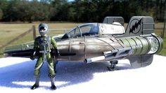 STAR WARS SAGA POTJ A-WING FIGHTER GREEN SQUADRON w/ REBEL PILOT 1997 HASBRO #HASBRO