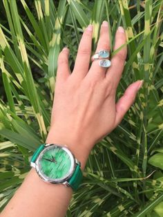 """""""GREEN is the prime color of the world, and that from which its loveliness arises 🌿"""" • Pedro Calderon De La Barca #alexbenlo #watch #watchaddict #watchoftheday #jade #jadeite #green #greenisthenewblack #nature #naturelovers #stone #stonelover #breath #world #yoga #relax #lifestyle #healthy #fit #travel #naturalbeauty #grass #plants #instagood #mothernature #loveourplanet #positivemind #positivevibes #quote # INSTAGRAM @Alexbenlo"""