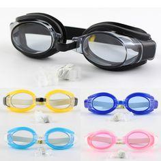 New Kids Niños Impermeable Ajustable Anti-vaho Gafas De Natación Gafas de Deportes Al Aire Libre de La Piscina de Natación y Gafas de Tapones Para Los Oídos Nariz Clip