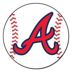 5d541c934fd MLB Atlanta Braves Baseball Mat 27 Diameter