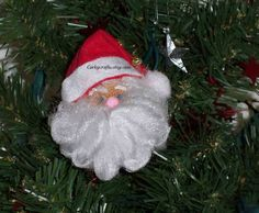 Santa Claus wine cork ornament/bottle tags/gift by Corkycrafts