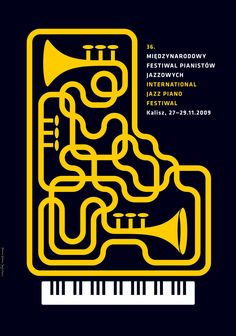International Jazz Piano Festival in Kalisz poster 2009 by Jerzy Skakun Festival Jazz, Festival Posters, Concert Posters, Theatre Posters, Movie Posters, Graphic Design Posters, Graphic Design Typography, Graphic Design Illustration, Digital Illustration