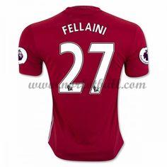 Billige Fotballdrakter Manchester United 2016-17 Fellaini 27 Hjemme Draktsett Kortermet