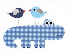 Alligator oiseau pépinière oeuvre imprimer bébé chambre décoration enfants chambre décoration cadeaux 20 impression murale art voile loin avec moi