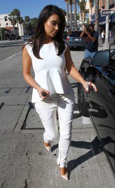 Kim Kardashian Peplum Top