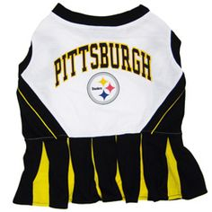 NFL Pittsburgh Steelers Cheerleader outfit for pet.I used to always make  fun of ppl who dressed their dog. but one day when I have my little dog and  my big ... b580c9823