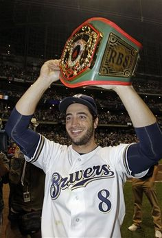 Congrats to Ryan Braun of the Milwaukee Brewers for being the NL MVP.