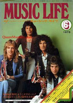 Queen for japans music life magazine, 1975 - Music Is Life, My Music, Queen The Miracle, Freedy Mercury, Queen Drummer, Queens Wallpaper, Queen Ii, Joe Cocker, Roger Taylor