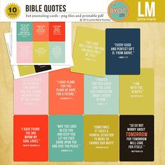 Bible Quotes journaling cards