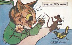 Louis Wain ~ vintage Oilette postcard