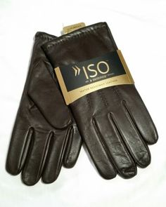 3fe8847811bd6 $70 Men's Isotoner 100% Lux-Cashmere Lined Genuine Leather Gloves Brown XL