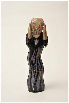 """""""Der Schrei"""" als aufblasbare Kunststofffigur, Motiv nach einem Gemälde von Edvard Munch Robert Fishbone, On The Wall Productions, Inc., USA,1993 Kategorie: Relieftranspositionen © Werkbundarchiv – Museum der Dinge/ Armin Herrmann"""