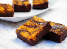 Brownies al cioccolato e crema di zucca senza burro