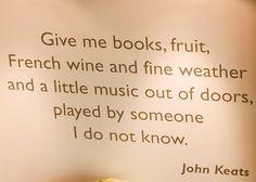 ~Keats