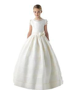 Graceprom Scoop Short Sleeves Bow First Communion Dresses... https://www.amazon.com/dp/B01F1NFG6I/ref=cm_sw_r_pi_dp_x_GsBUybHK8KKP4