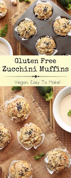 These gluten free zucchini muffins are perfect for breakfast, brunch, or simply to snack on. Plus, they're packed with plant based goodness and SO easy to make. #veganfood #glutenfree #breakfast #veganrecipes