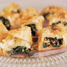 Spinach & feta snack pies