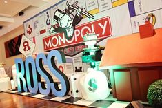 Ross' Monopoly Themed Party – Stage Backdrop