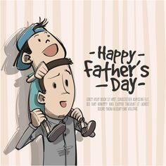 Water Color Father day Vector background