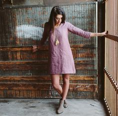 Conscious Clothing, sustainable, handmade, eco friendly, low impact, organic linen dress