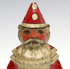 An alternate depiction of Santa Claus with conical hat and low hanging one-piece suit. on Sep 2019 Auction, Santa, Painting, Painting Art, Paintings, Painted Canvas, Drawings