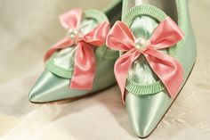 Marie Antoinette Pink and Mint Heels by OxfordIsHeaven on Etsy