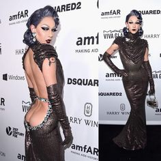 """20.4k Likes, 936 Comments - Violet Chachki (@violetchachki) on Instagram: """"Such a beautiful night! @amfar gown by @houseofcanney"""""""