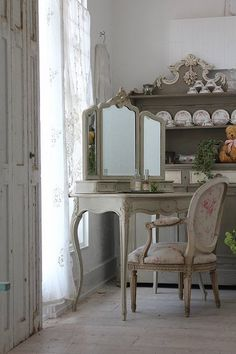French antique dresser Louis XV rocaille decoration