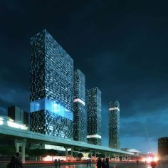 Anglang Towers eco urban building complex  by Mecanoo