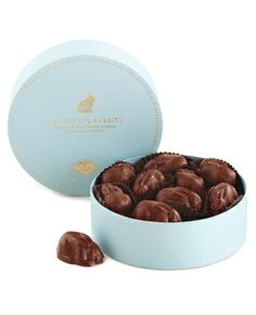 Vosges Haut-Chocolat Wandering Rabbit Truffles! Premium Packaging. You can see the craft that goes into the packaging for each season with this brand. This Easter box is simple, pure and makes you feel fresh as you're about to eat chocolate.