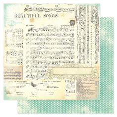 Vintage Chic Collection - 12 x 12 Double Sided Paper - Beautiful Songs, COMING SOON by Heidi Swapp - click to enlarge