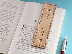 Leather Keyring, Leather Gifts, Leather Craft, Leather Bookmarks, Leather Anniversary Gift, Anniversary Gifts, Book Lovers Gifts, Gift For Lover, Book Markers