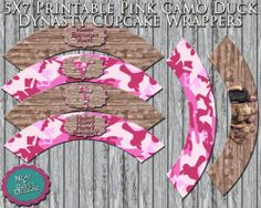Printable Camo Duck Dynasty Cupcake Wrappers | eBay