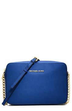 MICHAEL Michael Kors 'Jet Set - Travel' Crossbody Bag available at #Nordstrom: pink, blue, and green are all pretty!